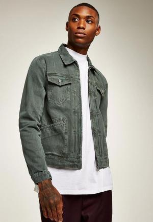 Куртка джинсовая Topman. Цвет: зеленый