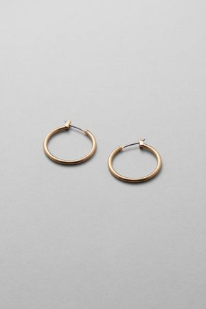 Серьги-кольца Mid Hoop Weekday. Цвет: золотистый