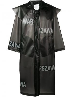 Длинный дождевик Warszawa Misbhv. Цвет: черный