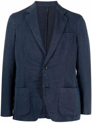 Однобортный пиджак Altea. Цвет: синий