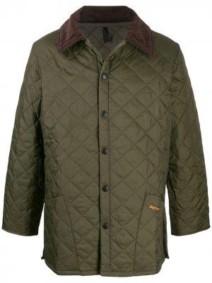 Стеганое пальто Liddesdale Barbour. Цвет: зеленый