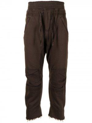 Укороченные спортивные брюки Haider Ackermann. Цвет: коричневый
