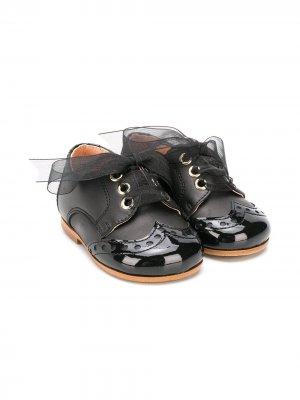 Пинетки на шнуровке CLARYS. Цвет: черный