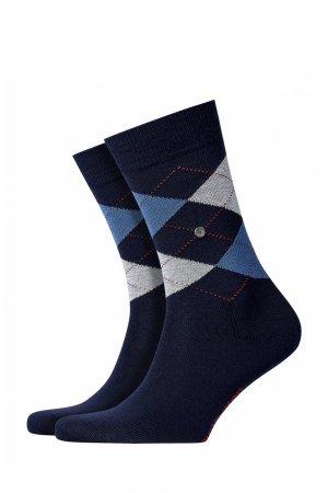 Синие носки с рисунком аргайл Burlington. Цвет: синий