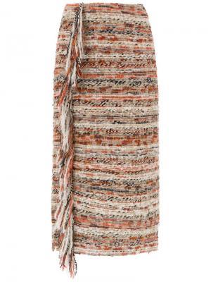 Твидовая юбка миди Nk. Цвет: разноцветный