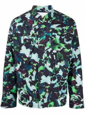 Куртка-рубашка с принтом Archive Floral Kenzo. Цвет: синий