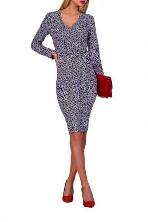 Платье FABIEN DE FERANTE. Цвет: темно-синий, молочный
