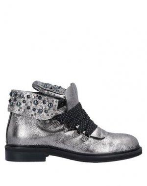 Полусапоги и высокие ботинки AREA FORTE. Цвет: серебристый