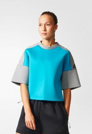 Свитшот adidas ZNE SS CRW REC. Цвет: серый