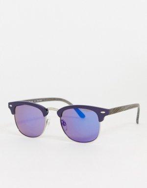 Солнцезащитные очки с зеркальными стеклами -Серый AJ Morgan
