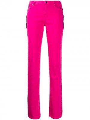 Расклешенные брюки с лампасами Karl Lagerfeld. Цвет: розовый
