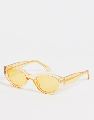 Оранжевые круглые солнцезащитные очки унисекс в стиле ретро Winnie-Оранжевый цвет A.Kjaerbede
