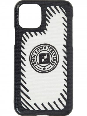 X Joshua Vides FF logo iPhone 11 Pro case Fendi. Цвет: белый