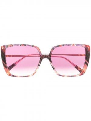 Солнцезащитные очки с абстрактным принтом Missoni. Цвет: розовый