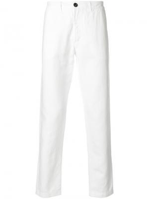 Классические брюки Eleventy. Цвет: белый