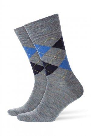 Носки с рисунком аргайл Burlington. Цвет: синий