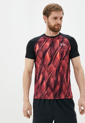 Футболка спортивная Under Armour M UA Qualifier ISO-CHILL Printed Short Sleeve. Цвет: коралловый
