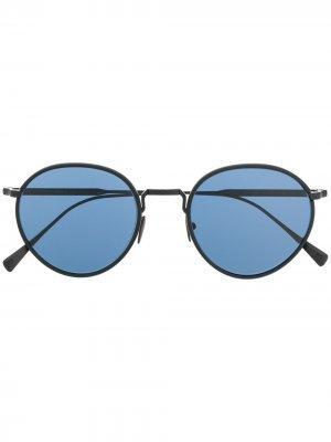 Солнцезащитные очки-авиаторы Giorgio Armani. Цвет: черный