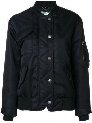 Boxy-fit bomber jacket Kenzo. Цвет: синий