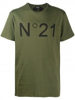Logo-print short-sleeve T-shirt Nº21. Цвет: зеленый