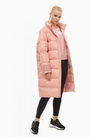 Пуховик Puma. Цвет: розовый