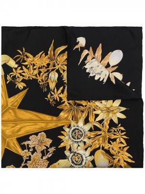 Платок Passiflores 1990-х годов Hermès. Цвет: разноцветный