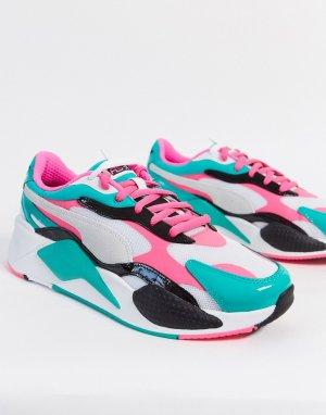 Розовые кроссовки RS-X3-Розовый Puma