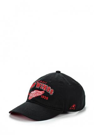 Бейсболка Atributika & Club™ NHL Detroit Red Wings. Цвет: черный