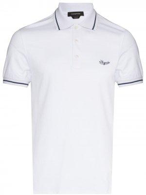 Рубашка поло с вышитым логотипом Ermenegildo Zegna. Цвет: белый