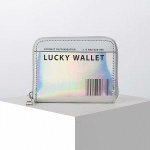 Кошелёк с голографическим эффектом lucky wallet, 12.5х9х2 см NAZAMOK
