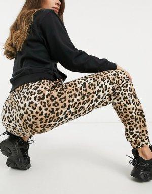 Джоггеры oversized от комплекта с леопардовым принтом -Мульти ASOS DESIGN