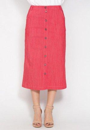 Юбка джинсовая D.VA. Цвет: розовый