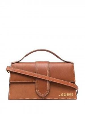 Большая сумка-тоут Le Bambino Jacquemus. Цвет: коричневый