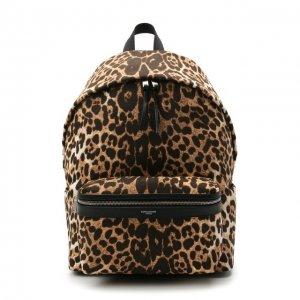Текстильный рюкзак City Saint Laurent. Цвет: леопардовый