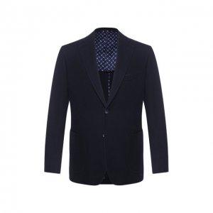 Хлопковый пиджак Zilli. Цвет: синий