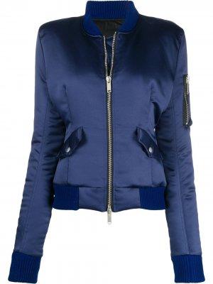 Куртка-бомбер UNRAVEL PROJECT. Цвет: синий