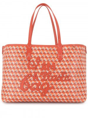 Сумка-тоут I Am A Plastic Bag Anya Hindmarch. Цвет: оранжевый