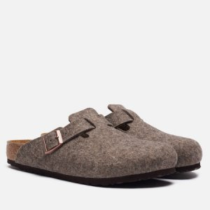 Мужские сандалии Boston Wool Birkenstock. Цвет: коричневый