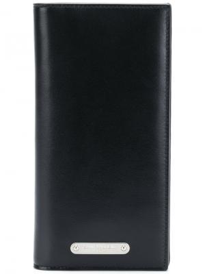 Удлиненный бумажник Saint Laurent. Цвет: черный