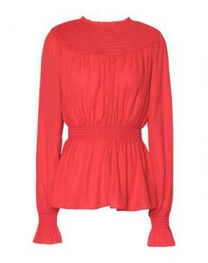 Блузка GEORGE J. LOVE. Цвет: красный