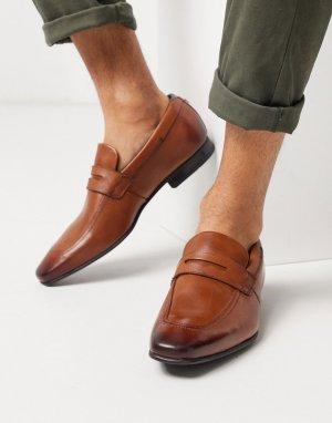 Светло-коричневые кожаные лоферы -Светло-коричневый Ted Baker