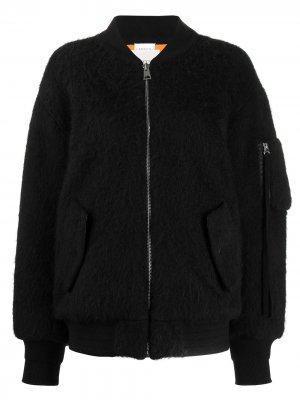 Куртка-бомбер в стиле колор-блок Laneus