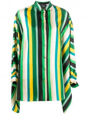Рубашка в полоску с рукавами летучая мышь Gianluca Capannolo. Цвет: зеленый