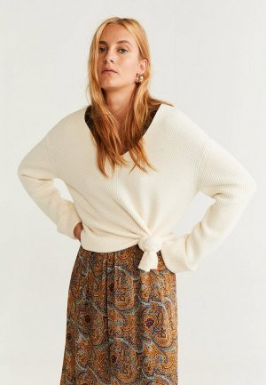 Пуловер Mango - FOLD. Цвет: белый