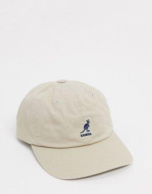 Бежевая бейсболка -Бежевый Kangol