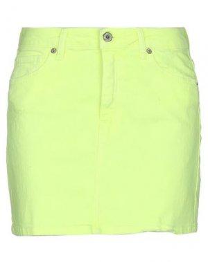 Джинсовая юбка PLEASE. Цвет: желтый
