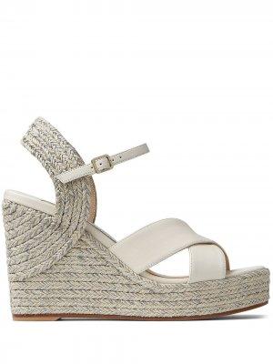 Dellena 100mm espadrille wedge sandals Jimmy Choo. Цвет: нейтральные цвета