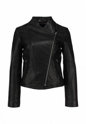 Куртка кожаная Naf NA018EWBQV64. Цвет: черный