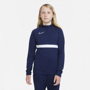 Футболка для футбольного тренинга школьников Dri-FIT Academy - Синий Nike