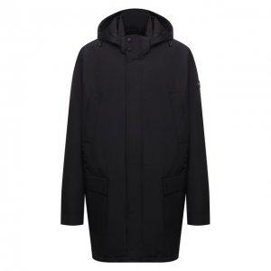 Утепленное пальто Paul&Shark. Цвет: чёрный